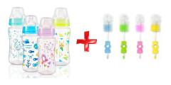 Antikoliková kojenecká láhev babyono 300ml + kartáč ZDARMA