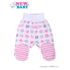 Kojenecké polodupačky New Baby Sloník bílo-růžové vel. 62