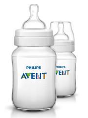 Láhev Classic bez BPA 260 ml Avent - 2ks