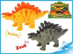 Stegosaurus chodící se světlem a zvukem