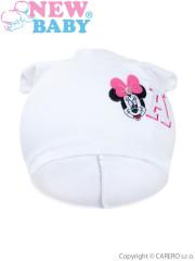 Podzimní dětská čepička New Baby Minnie bílá vel. 110