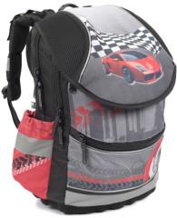 Anatomický školní batoh PLUS Auto červené 2014