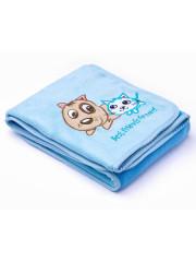 Dětská deka Sensillo Pejsek a Kočička 75x100 cm BLUE