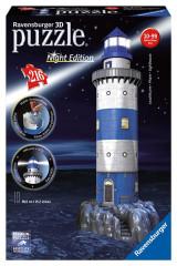 3D puzzle Maják v příboji Noční edice