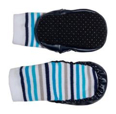 Bačkůrky s podrážkou šedá/modrá G-mini vel. 1 - 2 roky
