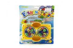 Hra ryby/rybář 16ks + 2 pruty plast 17x12cm na natažení