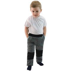 Dětské softshellové kalhoty Šedá/tyrkysová