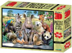 Puzzle Exotické 500 dílků 3D