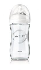 Kojenecká skleněná láhev Avent Natural 240 ml