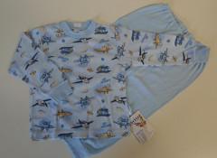 Bavlněné pyžamo letadla modré vel. 86