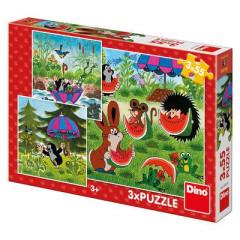 Puzzle Krtek a paraplíčko 3x55 dílků