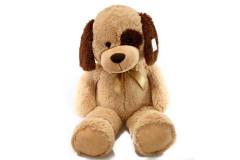 Plyšový pes béžový 90 cm