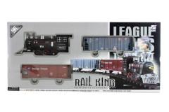Vlaková sada s kouřící lokomotivou