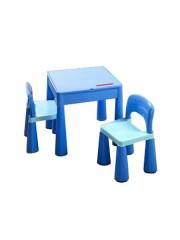 Dětská sada stoleček a dvě židličky modrá