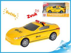 Auto taxi 16cm 1:28 na setrvačník se světlem a zvukem