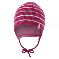 Čepice pletená zavazovací Outlast® Proužky/růžová