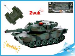 R/C tank 16,5cm 1:32 27MHz na baterie plná funkce 10kanálů se světlem a zvukem