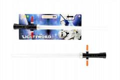 Světelný meč plast 55cm na baterie se zvukem se světlem na kartě