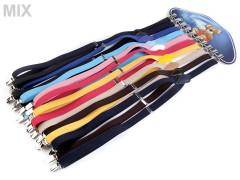 Šle-kšandy dětské jednobarevné 2,5 x 95 cm Mix