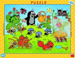 Puzzle deskové Krtek v jahodách 40 dílků