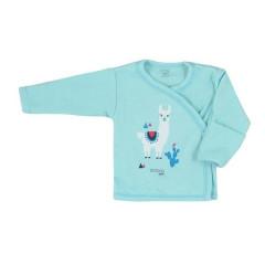 Kojenecká bavlněná košilka Koala Happy Baby tyrkysová
