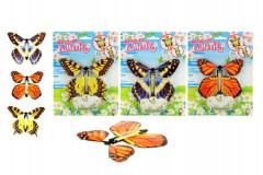 Natahovací motýl plast 11cm