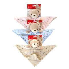 Usínáček plyšový Bobo baby Medvídek s hvězdičky