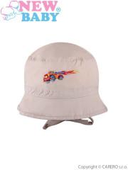 Letní dětský klobouček New Baby Truck vel. 80 BÉŽOVÝ