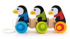 Dřevěná hračka Tučňáci na kolečkách Trefl