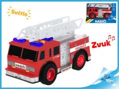 Auto hasiči 18cm na setrvačník na baterie se světlem a zvukem