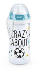NUK Kiddy Cup láhev fotbalová edice 300 ml, tvrdé pítko 12m+