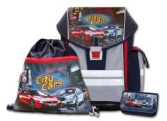 Školní aktovkový set ERGO ONE City Cars 3-dílný Emipo