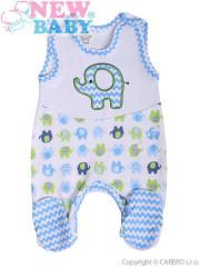 Kojenecké dupačky New Baby Sloník bílo-modré vel. 74