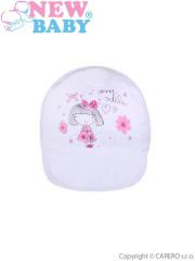 Letní dětská kšiltovka New Baby Sweet Girls vel. 74 BÍLÁ