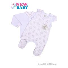 2-dílná kojenecká souprava New Baby Roztomilý medvídek BÍLÁ vel.74