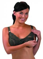 Podprsenka s krajkou a klipem ke kojení olivová - VEL. 7 = 90 G, 95 F, 95G