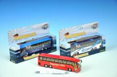 Autobus kov 19cm zpětný chod na baterie se světlem a zvukem
