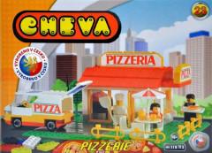 Stavebnice Cheva 23 Pizzerie plast 173ks v krabici
