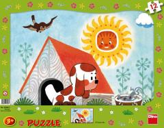 Puzzle Štěňátko rámové puzzle 12 dílků
