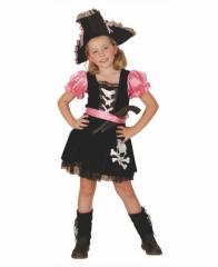 Kostým na karneval pirátka růžová, 110-120 cm
