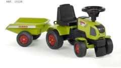 Odstrkovadlo - traktor Claas s volantem a valníkem Falk