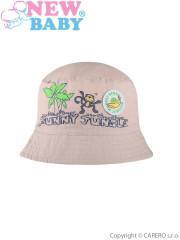 Letní dětský klobouček New Baby Funny Jungle vel. 86 BÉŽOVÝ