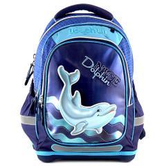 Školní batoh Dolphin II. - 3D nášivka - kroužky