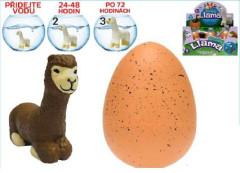 Alpaka líhnoucí a rostoucí ve vajíčku JUMBO 11cm