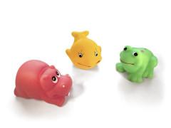 Gumové hračky - 3 zvířátka do vody