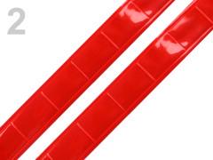 Reflexní páska na přilepení 1m červená