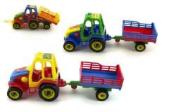 Traktor s vlekem plast 37cm