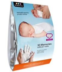 3D Memories odlévací sada baby pro 3D odlitek ručiček a nožiček