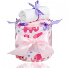 Plenkový dort malý T-tomi, růžový slon
