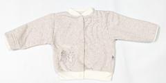 Teplejší kabátek melírek pastelový červený Baby Service